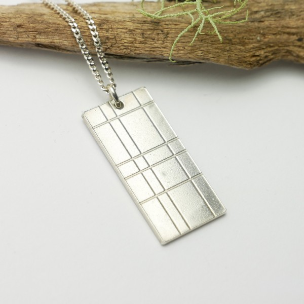 Rectangular Kilt Necklace in 925/1000 Sterling Silver Kilt 67,00 €