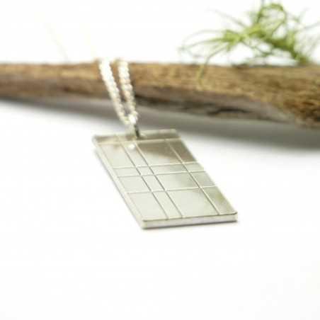 Rectangular Kilt Necklace in 925/1000 Sterling Silver Desiree Schmidt Paris Kilt 67,00€
