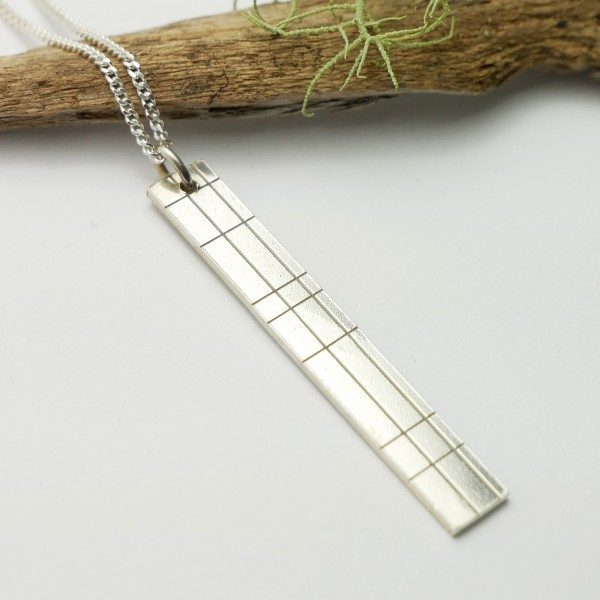 Collier rectangulaire Kilt en argent massif 925/1000 Kilt 65,00€