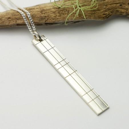 Kilt rectangular necklace in sterling silver 925/1000 Kilt 65,00€