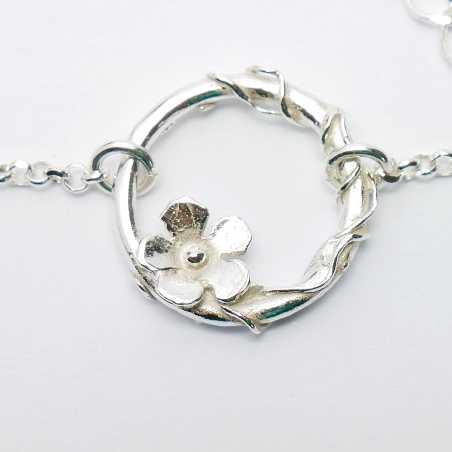 Bracelet réglable fleur Sakura en argent massif  Sakura 52,00€