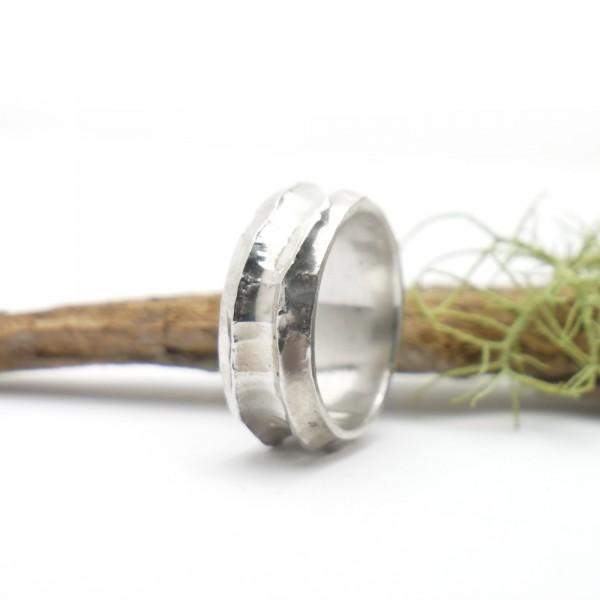 Minimalistische lange Sterling Silber Ohrringe mit Pailletten besetztes Entengrünes Harz NIJI