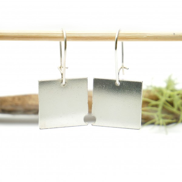 Bubble square dangling earrings in 925/1000 silver Bubble 75,00 €