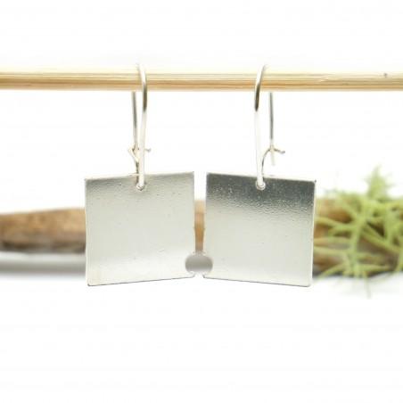 Boucles d'oreilles carrées Bulles pendantes en argent 925/1000 Bulles 75,00€