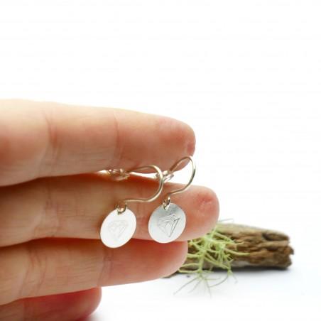 Boucles d'oreille pendantes en argent 925/1000 minimalistes motif diamant Boucles d'oreilles 27,00€