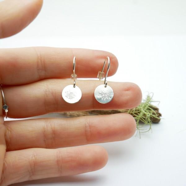 Minimalistische lange Sterling Silber Ohrringe mit Drosea Motiv Ohrringe 27,00€