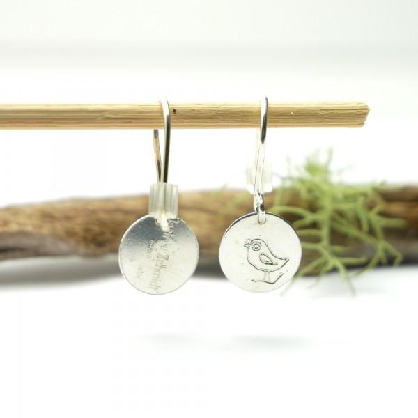 Boucles d'oreilles pendantes en argent 925/1000 minimalistes motif oiseau Boucles d'oreilles 27,00€