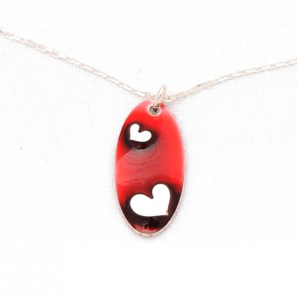 Sterling Silber Rotes Herz Kette  Valentine 65,00€