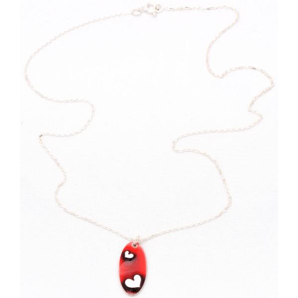 Sterling silver Valentine red heart pendant Valentine 65,00€