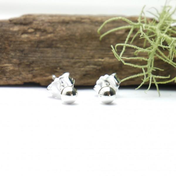 Boucles d'oreilles puces bille en argent 925/1000 minimalistes et simples Pépites 20,00€