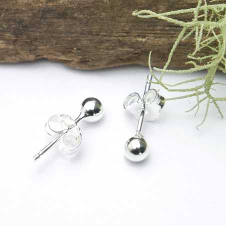 Sterling silver round earrings Nuggets 20,00€