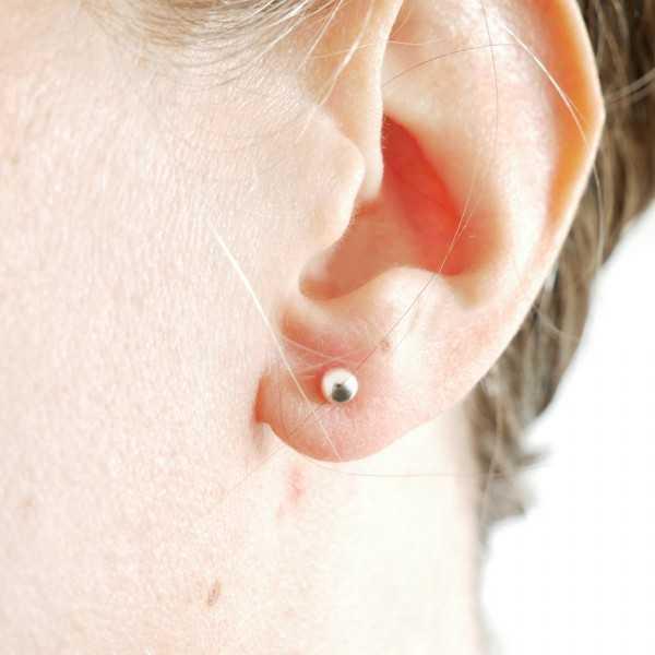 Minimalistische Lemna Wasserlinsen Sterlingsilber Halskette Start