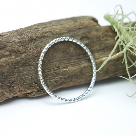 Minimalist faceted 925/1000 silver ring stackable ring Home 20,00€