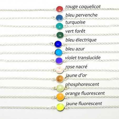 Armband aus Sterlingsilber 925/1000 und fluoreszierendes gelbes Harz Desiree Schmidt Paris Startseite 25,00€