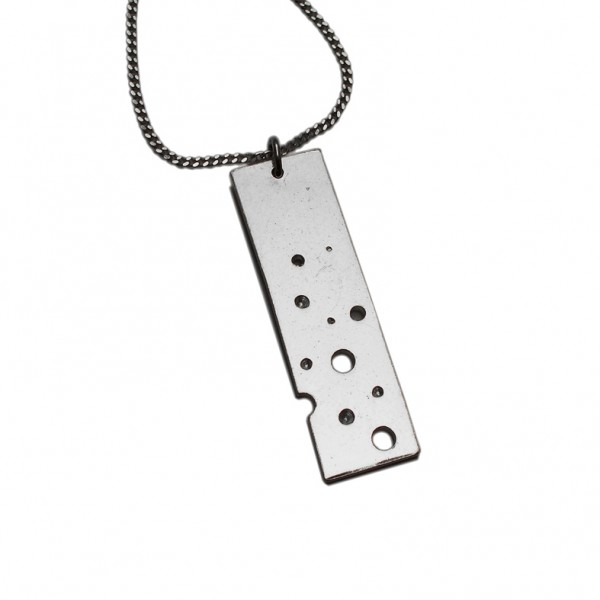 Rectangular pendant on adjustable chain in 925/1000 silver Bubble 75,00 €