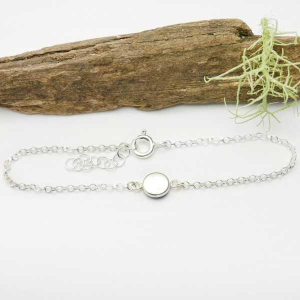 Schöne Sterling Silber Halskette Herbier