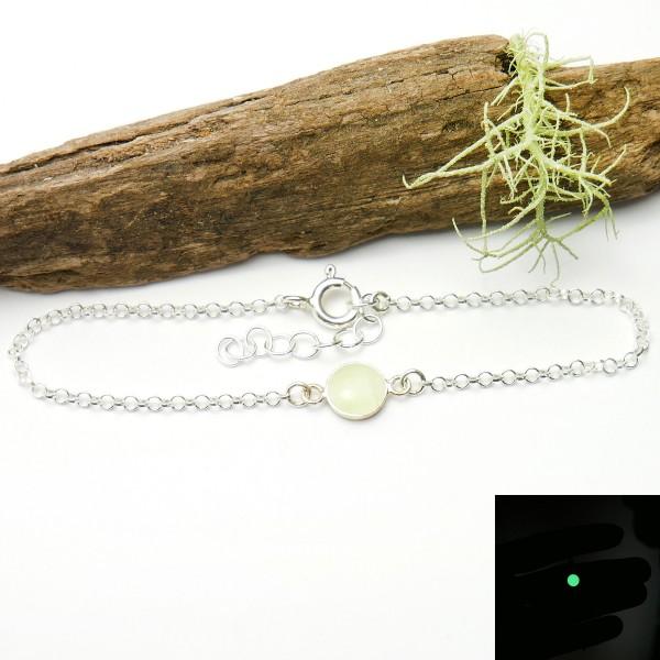 Bracelet en argent massif 925/1000 et résine phosphorescente longueur réglable Desiree Schmidt Paris Accueil 25,00€