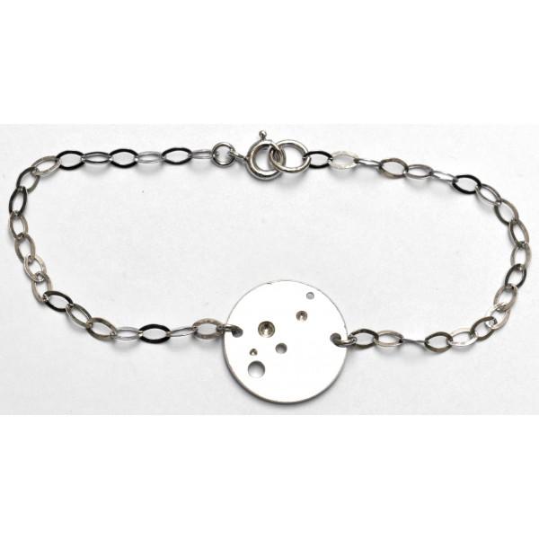 Blasen rundes Armband aus 925/1000 Silber Desiree Schmidt Paris Bulle 59,00€