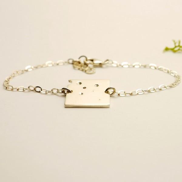 Petit bracelet carré Bulles en argent 925/1000  Bubble 59,00€