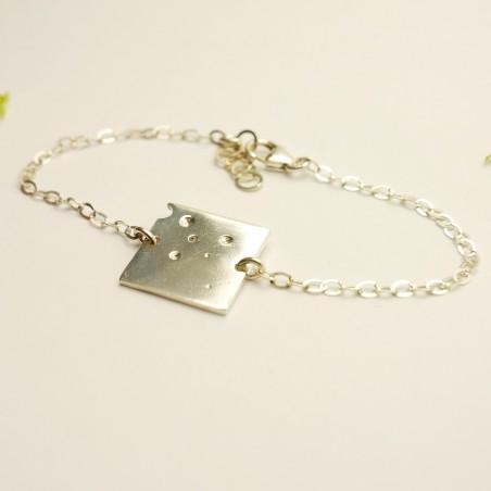 Petit bracelet carré Bulles en argent 925/1000  Bulles 59,00€