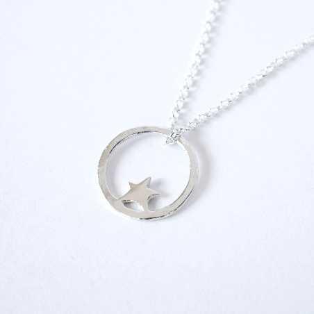 Nova small ajustable necklace. Sterling silver.  Nova 37,00€