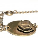 Petit collier Rose en bronze vieilli Rose