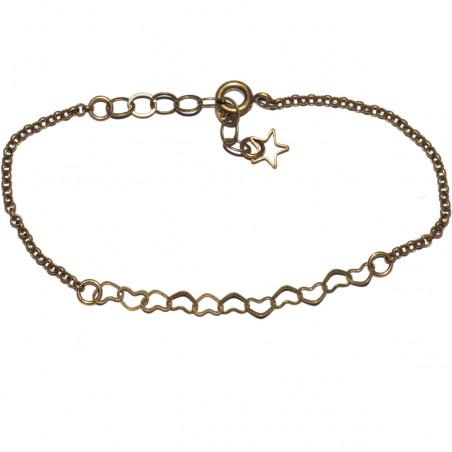 Round Rose ajustable bracelet. Aged Bronze.