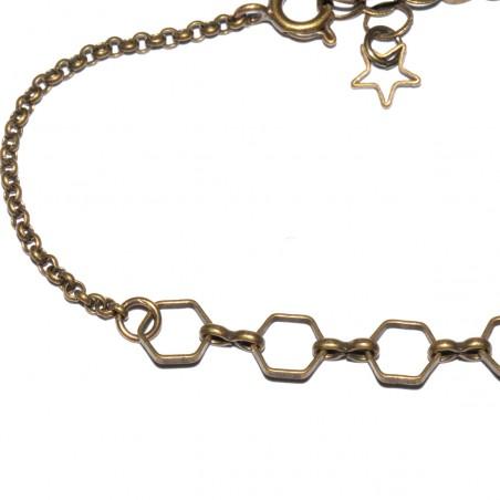 Basic small aged bronze ajustable bracelet  Basic 19,00€