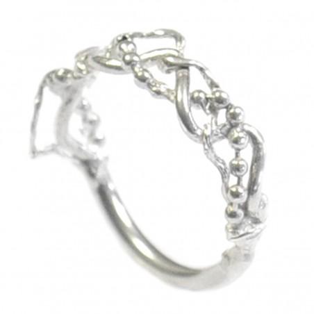 Basic small aged bronze ajustable bracelet