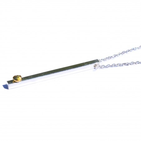 Regentropfen Kette aus Sterling Silver und Gold  Regentropfen 107,00€