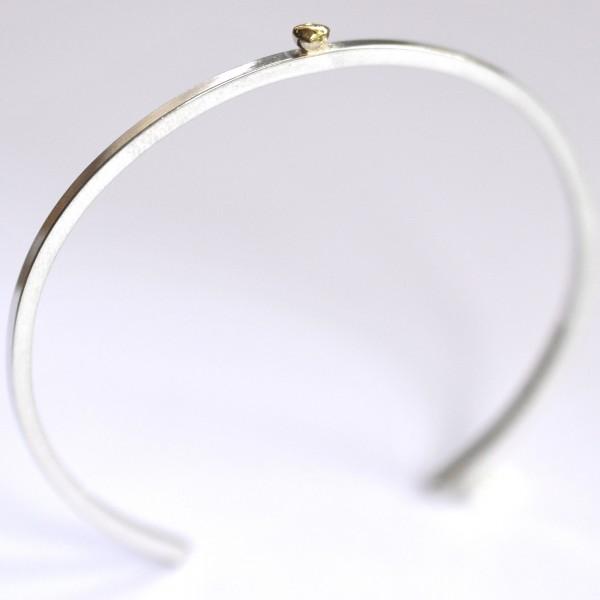Bracelet jonc en argent 925/1000 et or 24 carat Perle de Pluie Desiree Schmidt Paris Perle de Pluie 127,00€