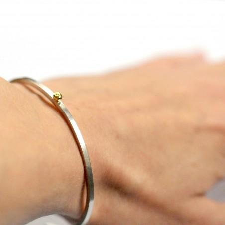 Bracelet jonc en argent et or 24 carat Perle de Pluie  Perle de Pluie 127,00€