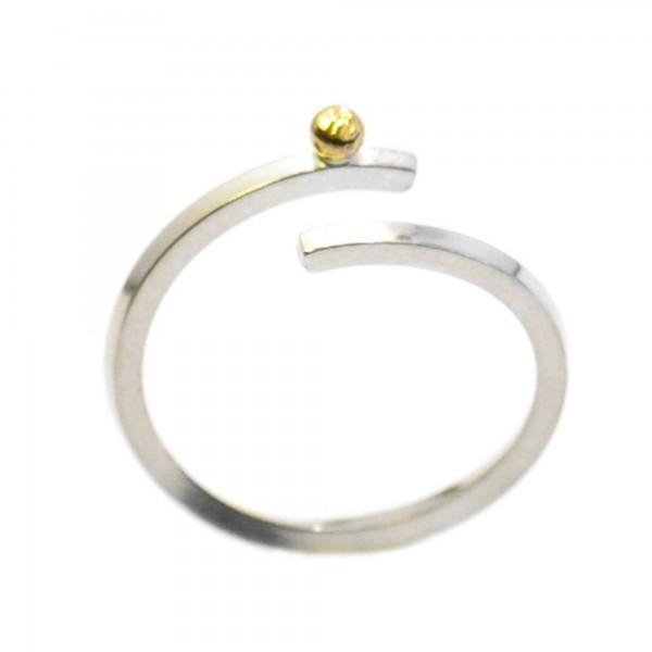 Gold Rain Drop adjustable sterling silver ring Rain drop 97,00 €