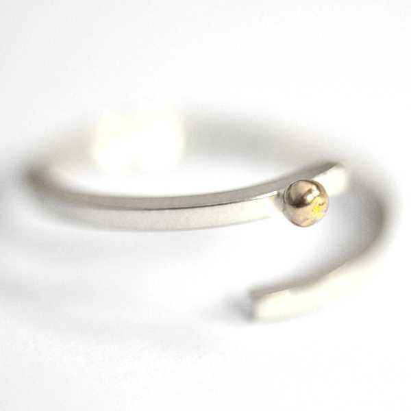 Bague réglable Perle de Pluie en argent et or 24 CARAT  Perle de Pluie 97,00€