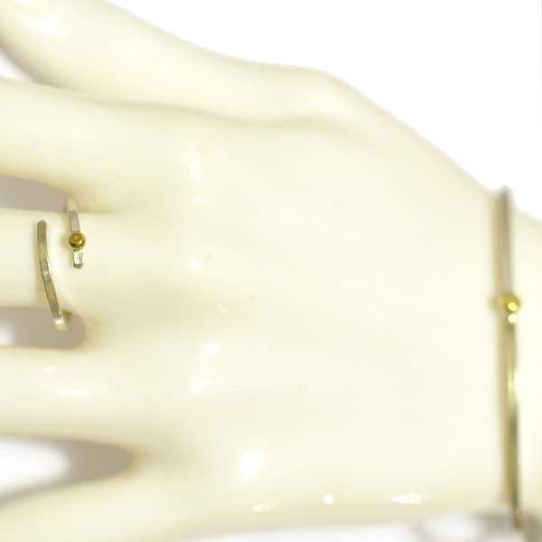 Gold Rain Drop adjustable sterling silver ring  Rain drop 97,00€