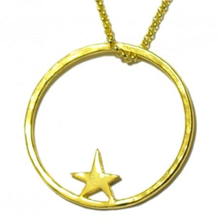 Collier étoile Nova en bronze doré à l'or fin