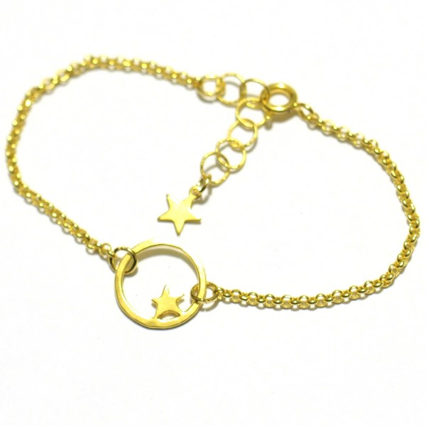 Nova star small bracelet. Fine golded bronze.  Nova 33,00 €