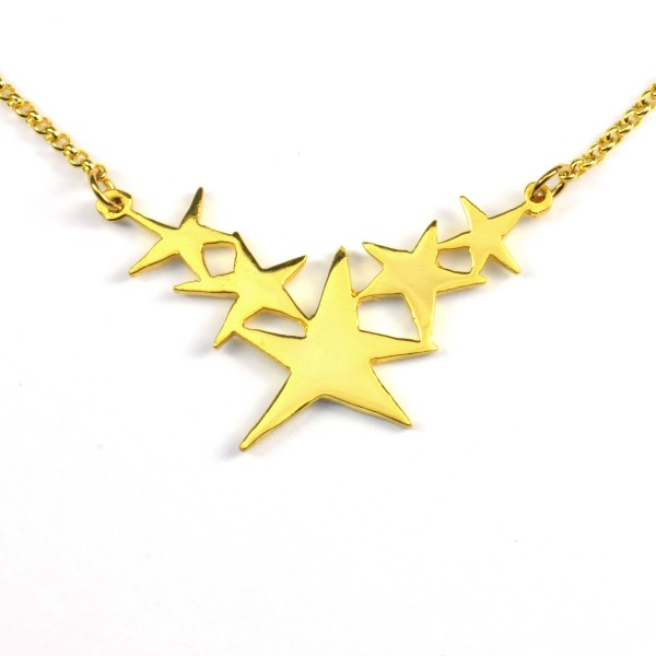 Sati star necklace. Fine golded bronze. Sati 67,00 €