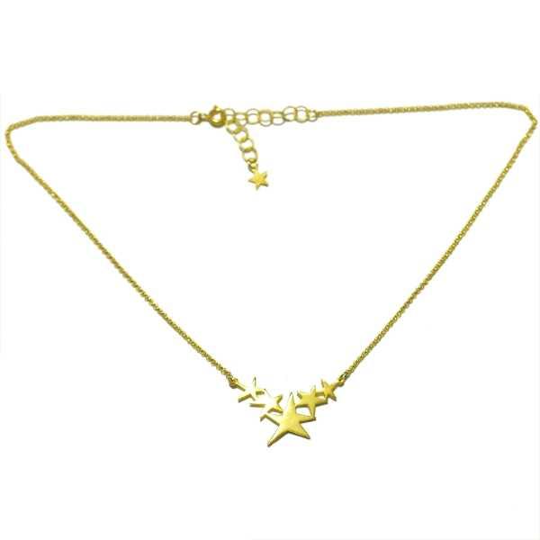 Collier étoiles Sati en bronze doré à l'or fin Sati 67,00€