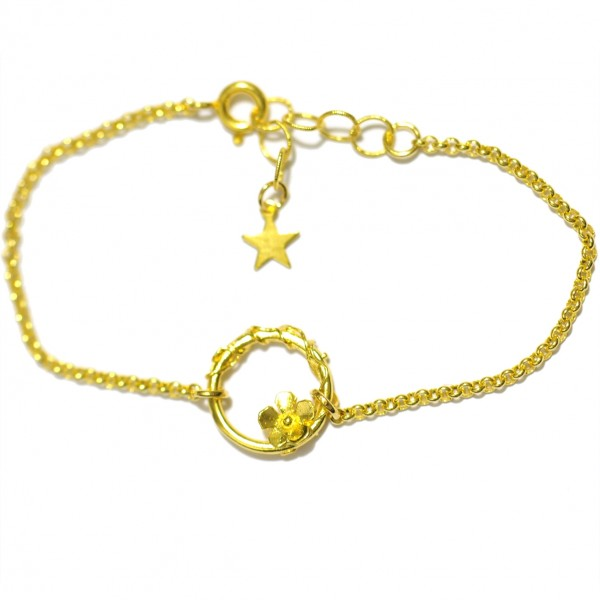 Sakura flower ajustable bracelet. Fine golded bronze.  Sakura 45,00 €