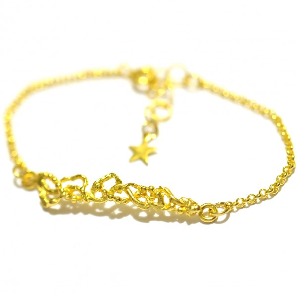 Morning Glories fine golded bracelet  Volubilis 52,00 €