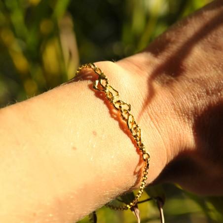 Bracelet réglable Volubilis en bronze doré à l'or fin Volubilis 52,00€
