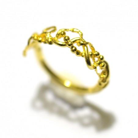 Bague Volubilis en bronze doré à l'or fin Volubilis 55,00€