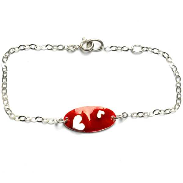Rotes Valentine Herz Armband aus Sterling Silber Valentine 65,00€