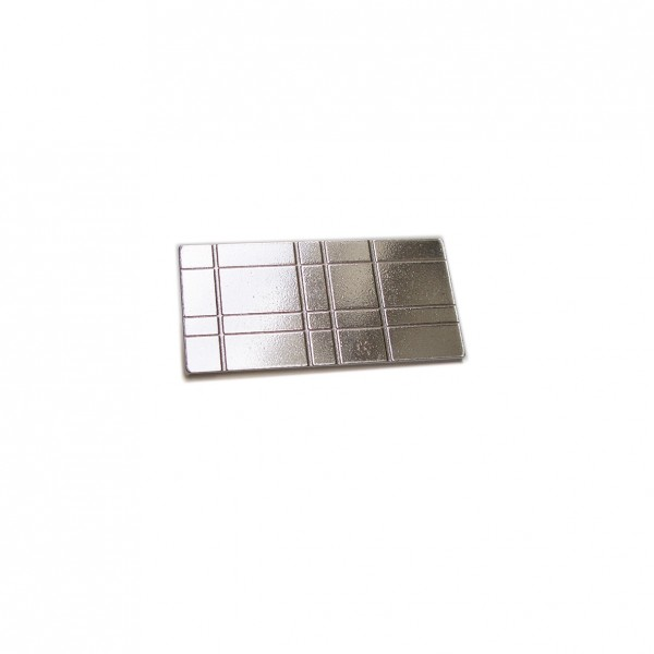 Broche rectangulaire Kilt en argent massif Kilt 67,00€