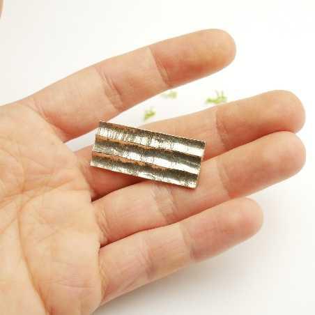 Broche rectangulaire Bamboo en argent massif  Broches 65,00€