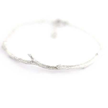 Halb Steifes Zweig Armband aus Sterling Silber Eda 75,00€