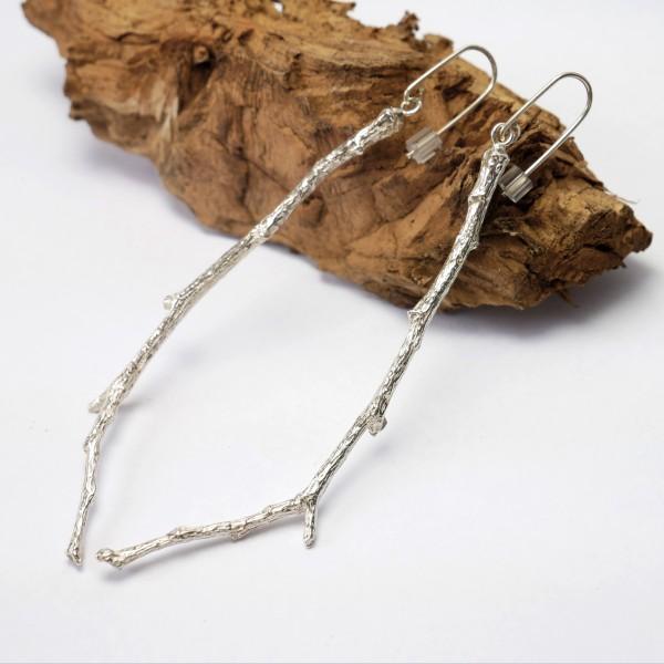 Zweig lange Ohrringe aus Sterling Silber  Eda 97,00€