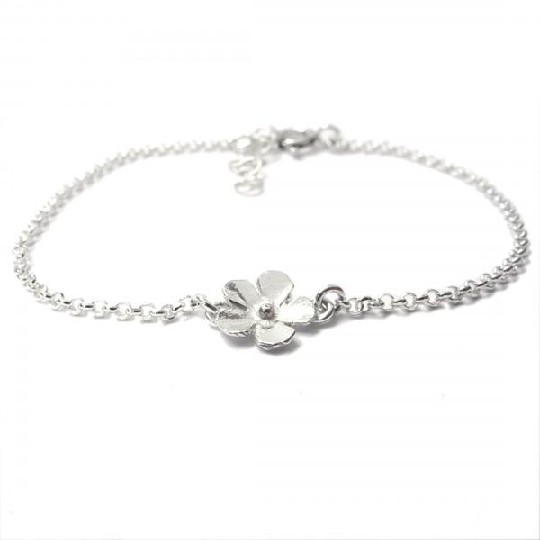 Petit bracelet fleur Sakura en argent 925/1000  Sakura 33,00€