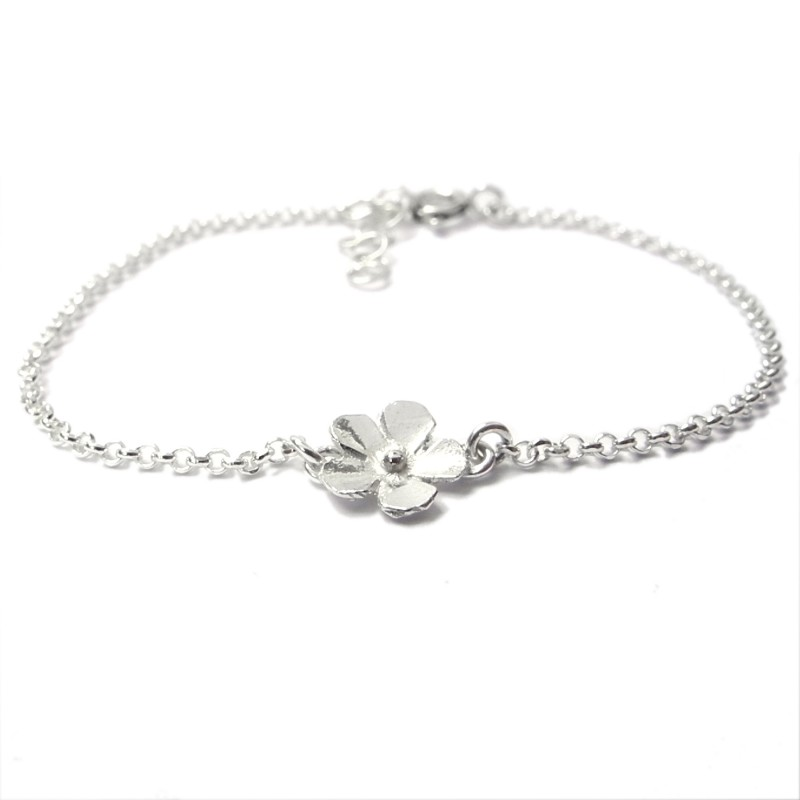 Sterling silver small flowers Sakura bracelet Desiree Schmidt Paris Sakura 33,00€